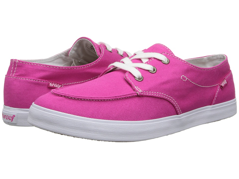 Reef - Deck Hand 2 (Hot Pink) Women's Lace up casual Shoes