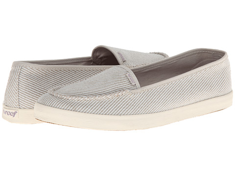 Reef - Salty Island (Cream Stripes) Women's Slip on Shoes
