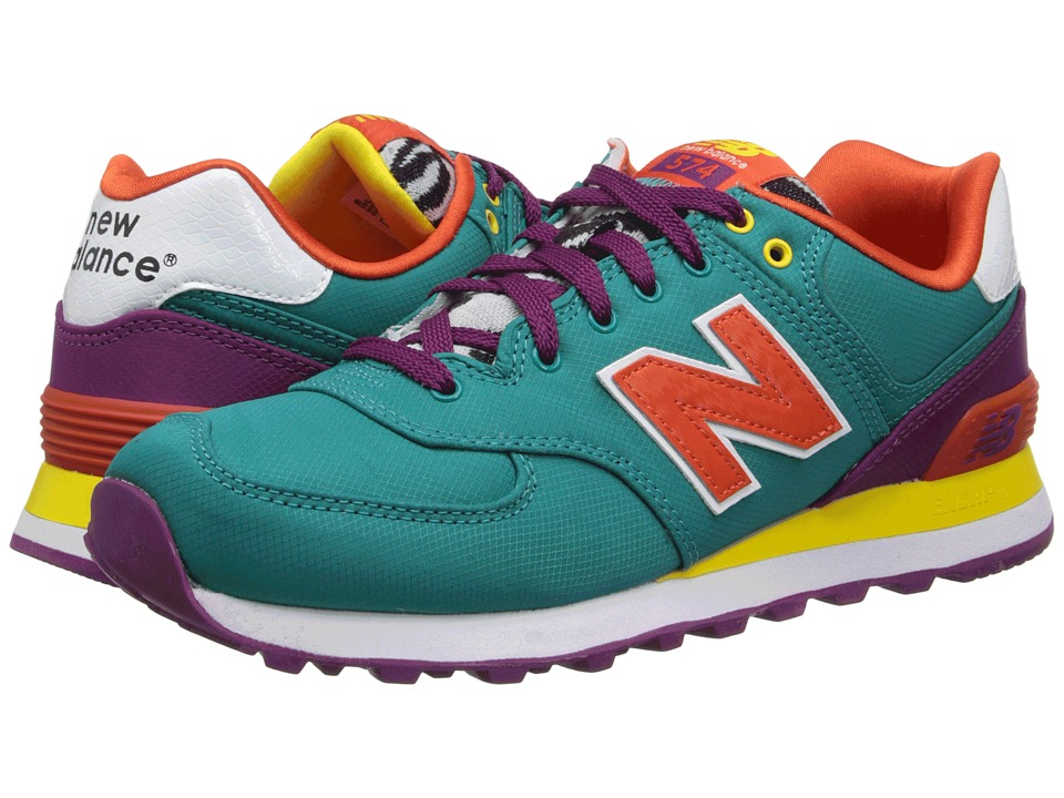 New Balance Classics - WL574 - Pop Safari (Blue/Purple) Women's Lace up casual Shoes