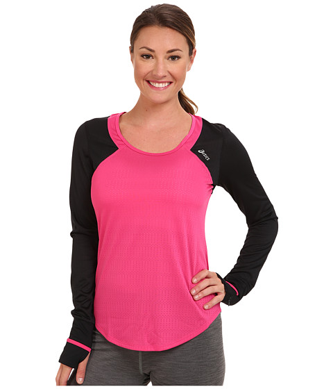 ASICS - Abby Long-Sleeve Tee (Magenta) Women's Long Sleeve Pullover