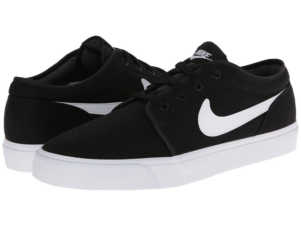 Nike - Toki Textile - Low (Black/White) Men's Shoes