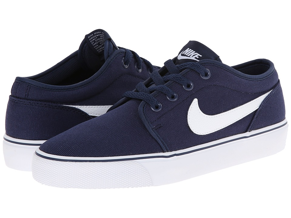 Nike - Toki Textile - Low (Midnight Navy/White) Men's Shoes