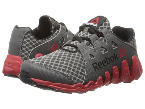 Reebok Kids - ZigTech Big Quick (Little Kid) (Rivet Grey/Black/Excellent Red/White) Boys Shoes