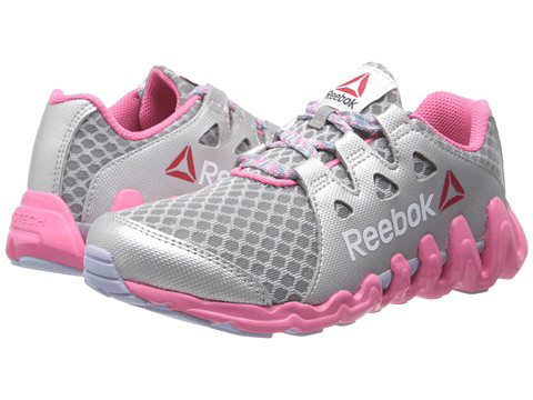 Reebok Kids - ZigTech Big Quick (Little Kid) (Flat Grey/Happy Pink/Silver Metallic/Frozen Lilac/Timeless Teal) Girls Shoes