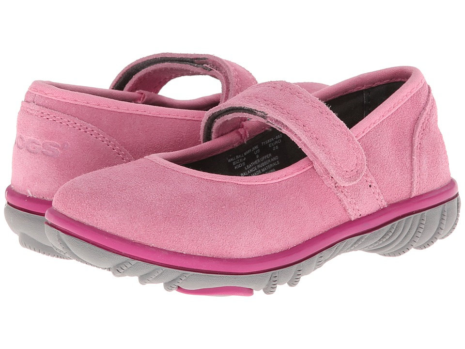 Bogs Kids - Wall Ball Mary Jane (Toddler/Little Kid/Big Kid) (Bubble Gum Pink) Girls Shoes