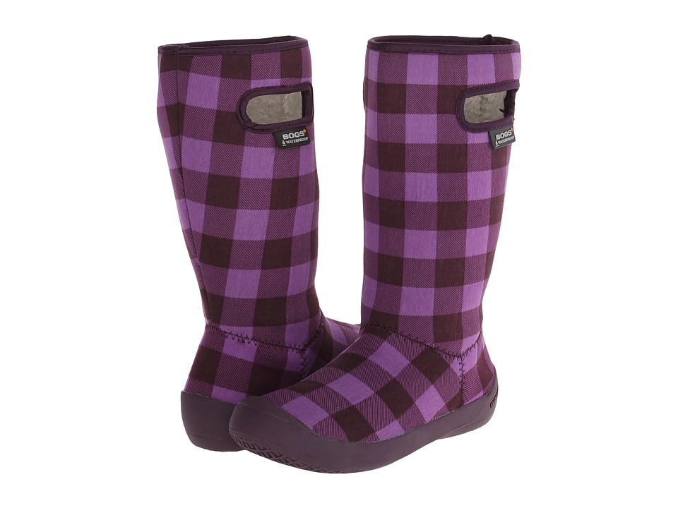 Bogs Kids - Summit Buffalo Plaid (Toddler/Little Kid/Big Kid) (Purple Multi) Girls Shoes