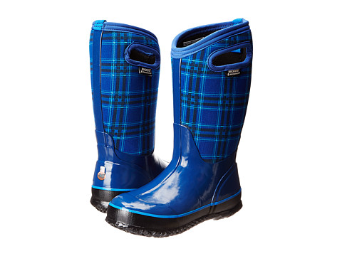 Bogs Kids - Classic Winter Plaid (Toddler/Little Kid/Big Kid) (Blue) Girls Shoes