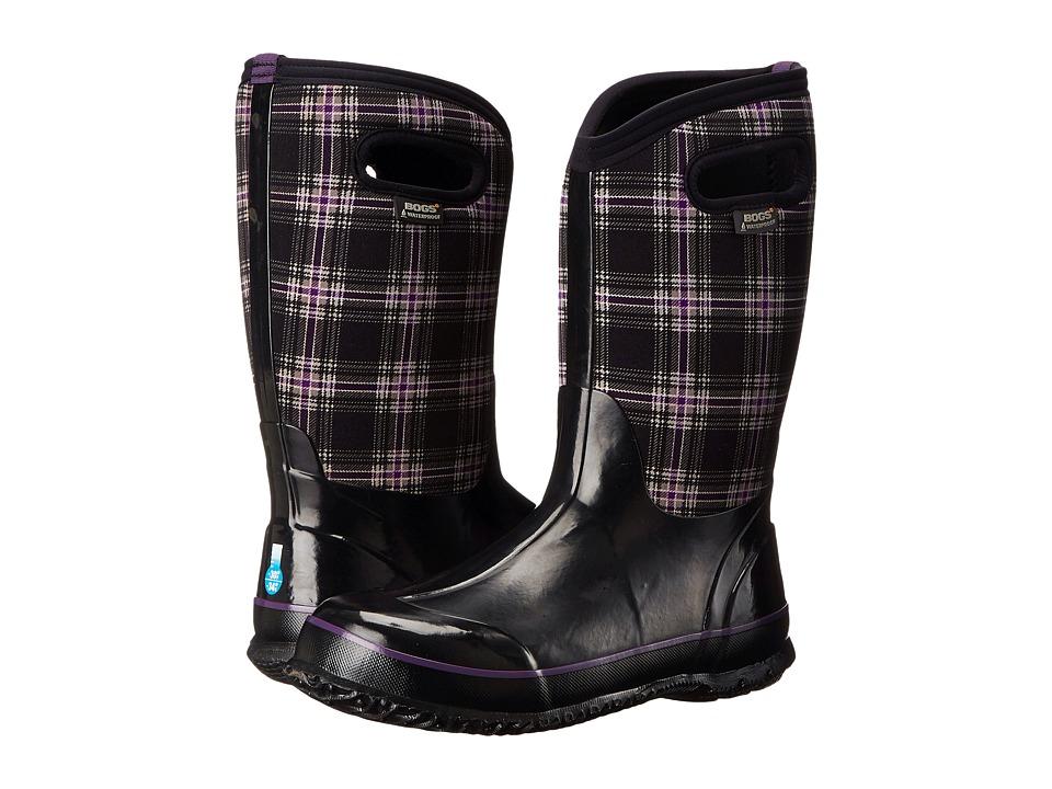 Bogs Kids - Classic Winter Plaid (Toddler/Little Kid/Big Kid) (Black Multi) Kids Shoes