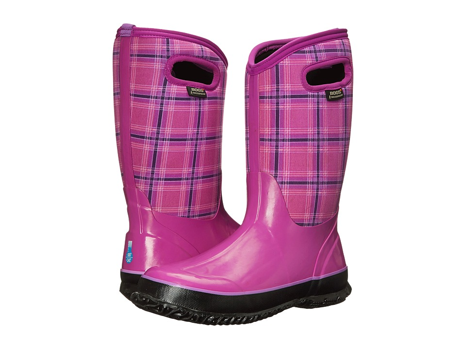 Bogs Kids - Classic Winter Plaid (Toddler/Little Kid/Big Kid) (Fuchsia) Girls Shoes