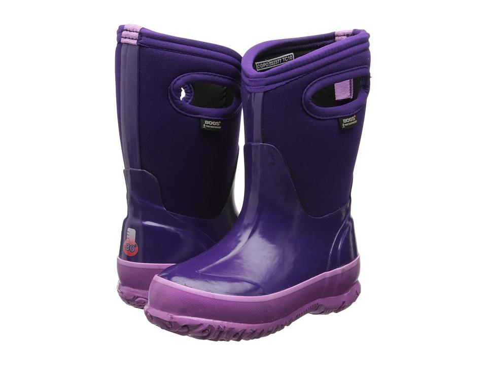 Bogs Kids Solids (Toddler/Little Kid/Big Kid) (Grape) Girls Shoes