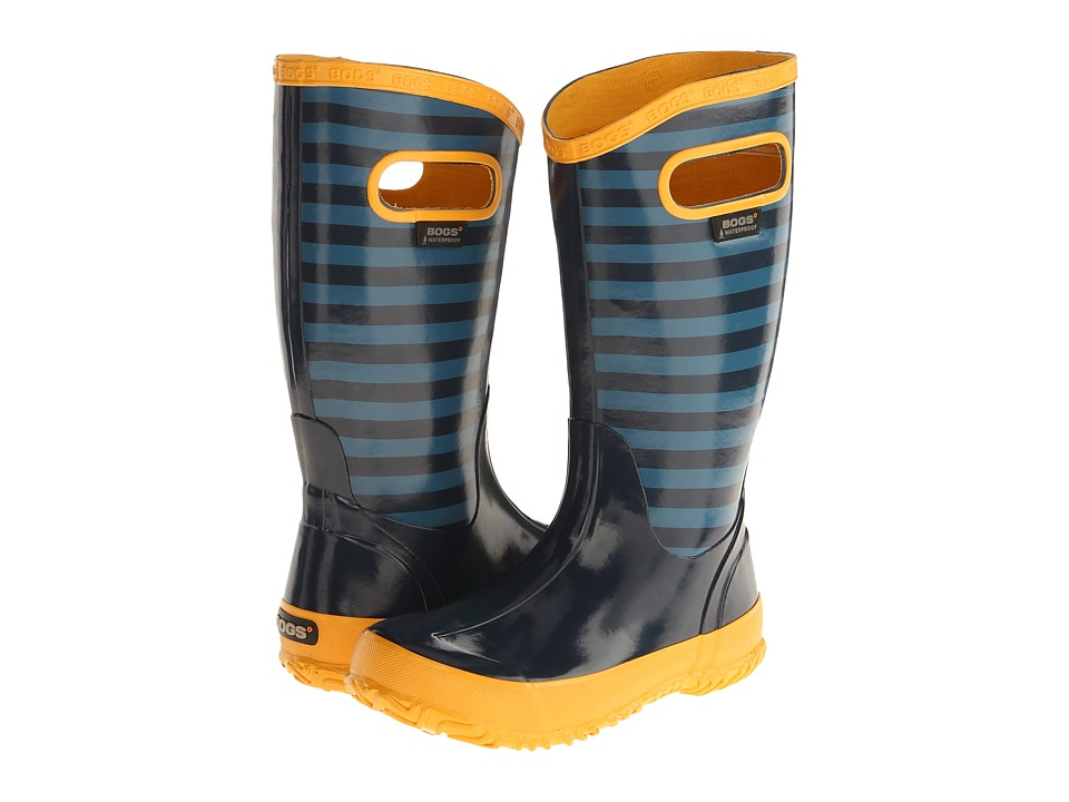 Bogs Kids - Rainboot Stripe (Toddler/Little Kid/Big Kid) (Navy Multi) Boys Shoes
