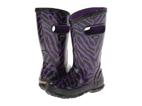 Bogs Kids - Rain Boot Zebra (Toddler/Little Kid/Big Kid) (Purple Multi) Girls Shoes
