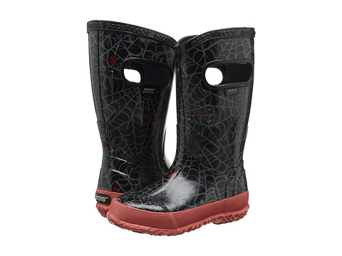 Bogs Kids - Rainboot Spiders (Toddler/Little Kid/Big Kid) (Black/Red) Boys Shoes