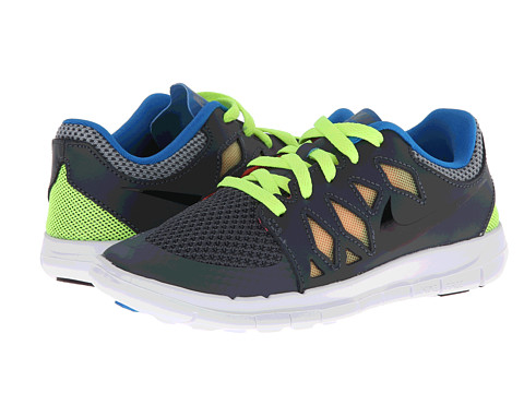 Nike Kids - Free 5 (Little Kid) (Dark Magnet Grey/Volt/Photo Blue/Black) Kids Shoes