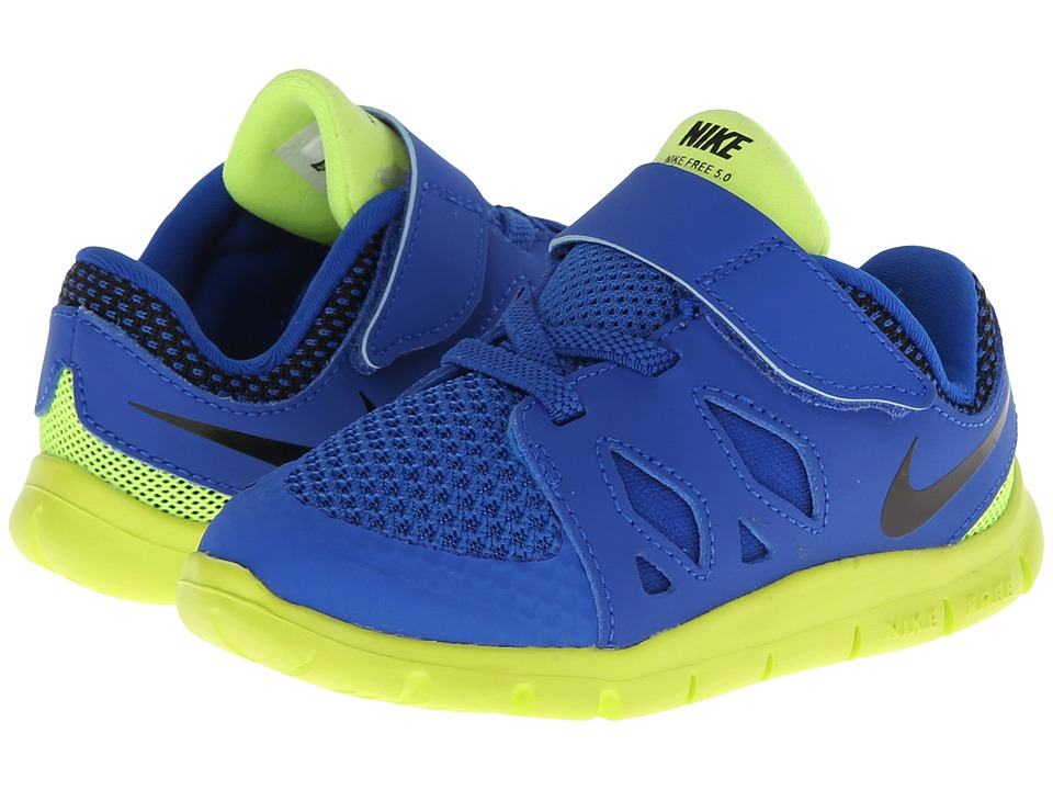 Nike Kids - Free 5 (Infant/Toddler) (Hyper Cobalt/Midnight Navy/Photo Blue/Black) Kids Shoes