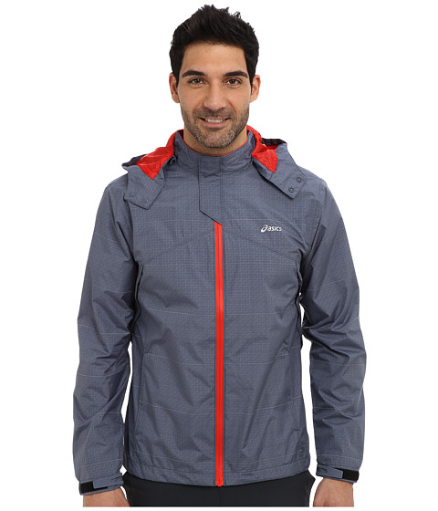 ASICS - Storm Shelter Jacket (Slate/Red Heat) Men