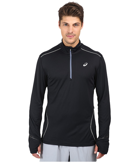ASICS - Lite-Show Favorite 1/2 Zip (Black) Men's Long Sleeve Pullover