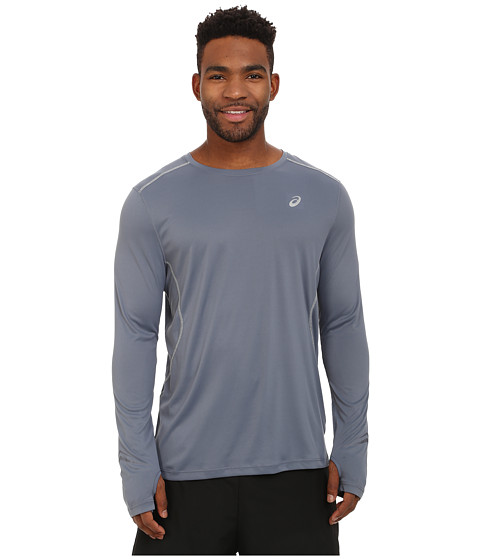 ASICS - Lite-Show Favorite Long Sleeve (Slate) Men's Long Sleeve Pullover