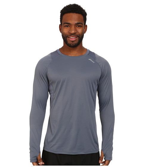 ASICS - Favorite L/S Top (Slate) Men's Long Sleeve Pullover