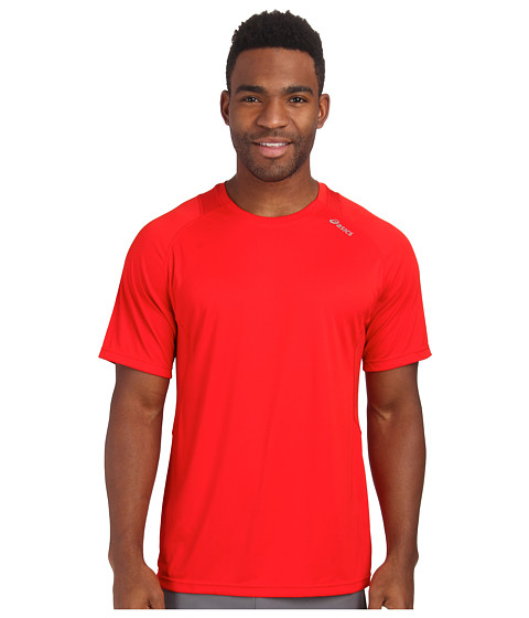 ASICS - Favorite Short Sleeve (Red Heat) Men's Workout