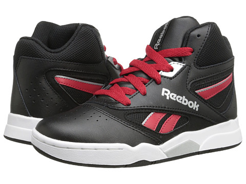 Reebok Kids - Baseline 1.0 (Little Kid/Big Kid) (Black/Excellent Red/White/Silver Metallic) Boys Shoes