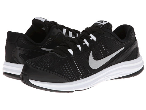 Nike Kids - Fusion Run 3 (Little Kid) (Black/White/Cool Grey/Metallic Silver) Boys Shoes