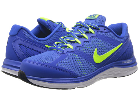 Nike Kids - Dual Fusion Run 3 (Big Kid) (Hyper Cobalt/University Blue/White/Volt) Boys Shoes