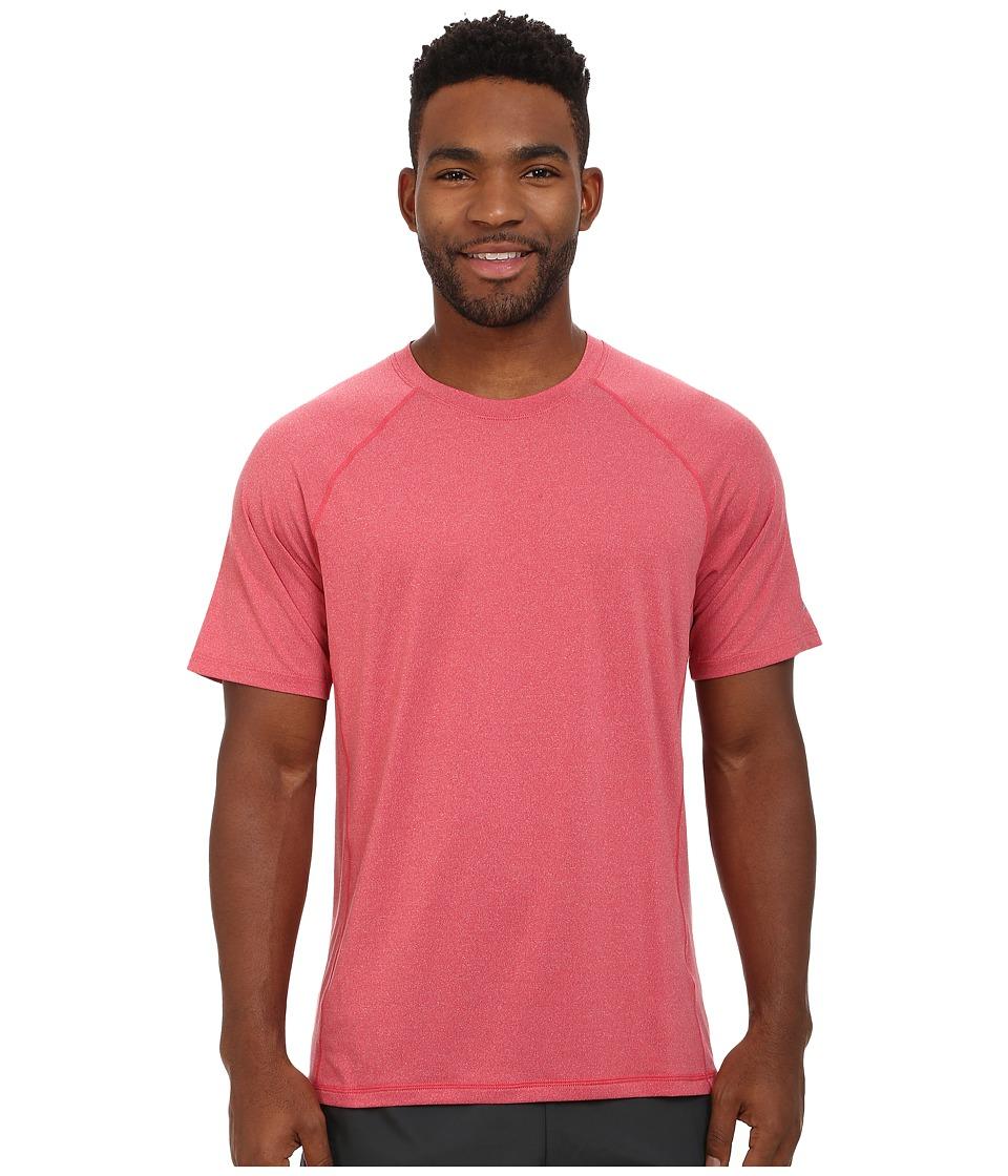 ASICS - Everyday III Short Sleeve (Red Heat Heather) Men's Clothing