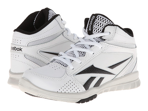 Reebok Kids - Clean Shot (Little Kid/Big Kid) (White/Black/Steel) Boy