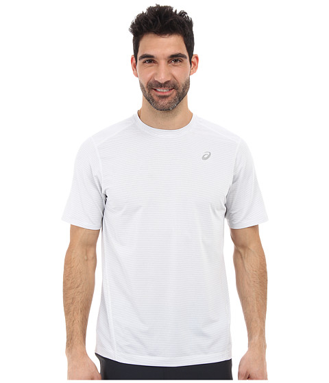ASICS - All Sport Stripe Short Sleeve (White) Men's Workout