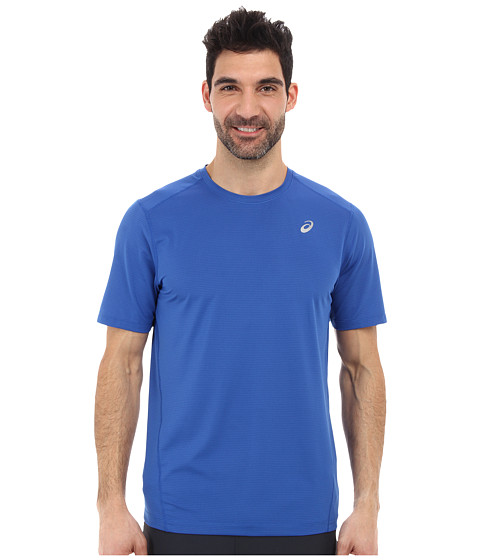 ASICS - All Sport Stripe Short Sleeve (New Blue) Men's Workout