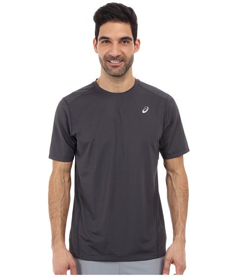ASICS - All Sport Stripe Short Sleeve (Steel/Stealth Gray/Stealth Gray) Men
