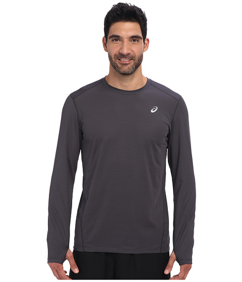 ASICS - All Sport Stripe Long Sleeve (Steel/Stealth Gray/Stealth Gray) Men's Long Sleeve Pullover