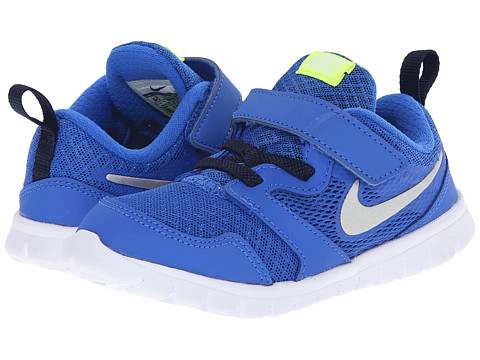 Nike Kids - Flex Experience 3 (Infant/Toddler) (Hyper Cobalt/Obsidian/Volt/Metallic Silver) Boys Shoes