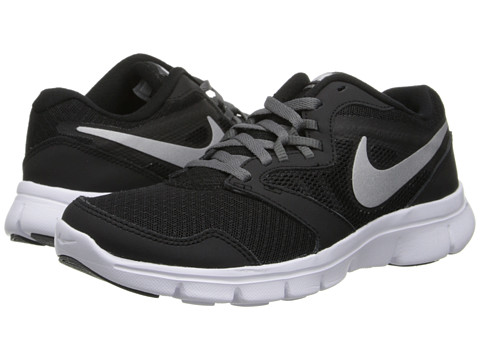 Nike Kids - Flex Experience 3 (Big Kid) (Black/Dark Grey/White/Metallic Silver) Boys Shoes