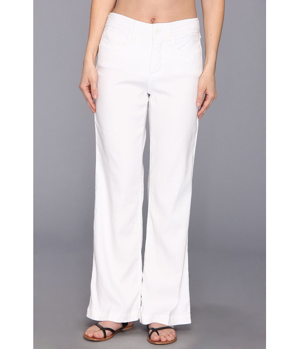 NYDJ Petite - Petite Wylie Trouser Linen-Blend (Optic White) Women's Casual Pants
