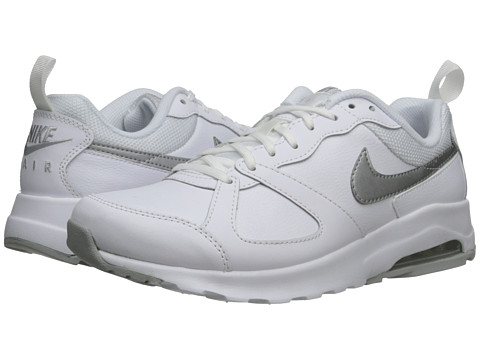 Nike - Air Max Muse Leather (White/Wolf Grey/Metallic Silver) Women