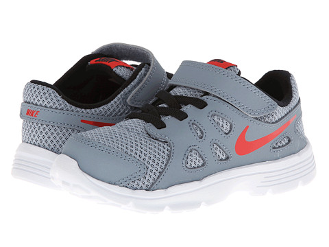 Nike Kids - Revolution 2 (Infant/Toddler) (Magnet Grey/Black/White/Challenge Red) Boys Shoes
