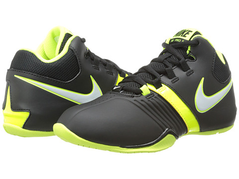 Nike Kids - AV Pro V (Little Kid/Big Kid) (Black/Volt/White) Boys Shoes