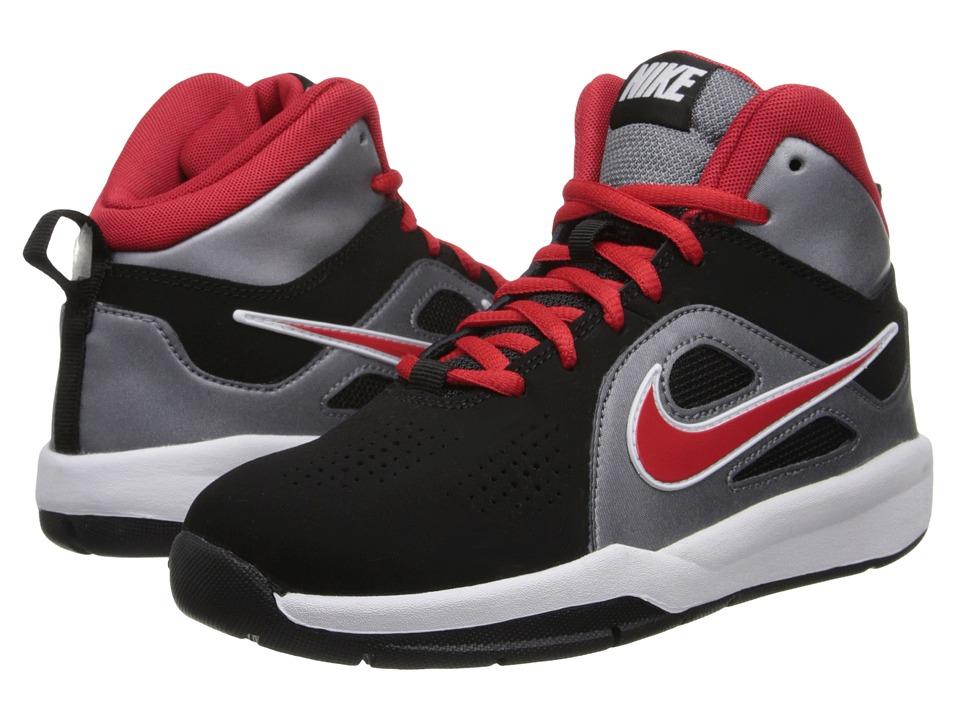 Nike Kids - Team Hustle D 6 (Big Kid) (Black/Metallic Cool Grey/University Red) Boys Shoes