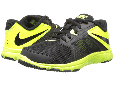 Nike Kids - Flex Supreme TR 3 (Little Kid/Big Kid) (Black/Volt/Black) Boys Shoes