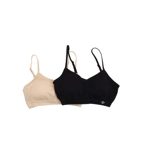 Lily of France - Dynamic Duo 2-Pack Seamless Bra (Black/Barely Beige) Women