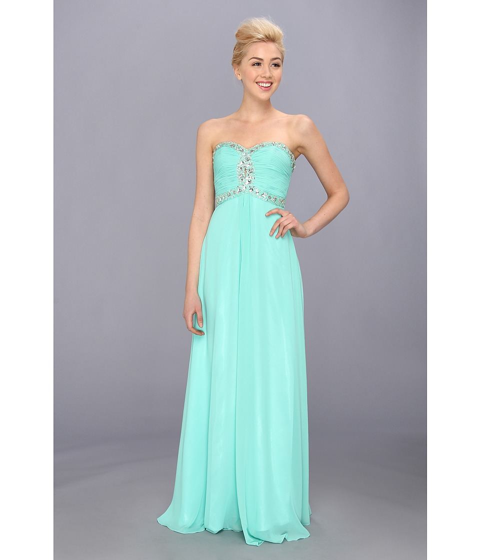 Faviana - Strapless Sweetheart Corset Back Dress 7366 (Spearmint) Women's Dress