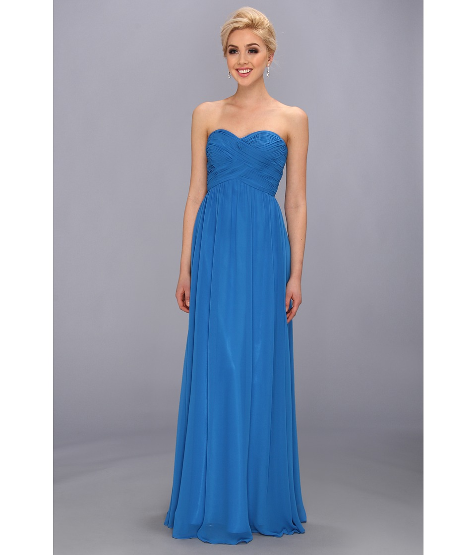Faviana - Strapless Sweetheart Chiffon Dress 7338 (Turquoise Stone) Women's Dress