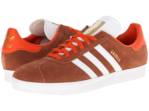 adidas Originals - Gazelle (St Redwood/Core White/Gold Metallic) Classic Shoes