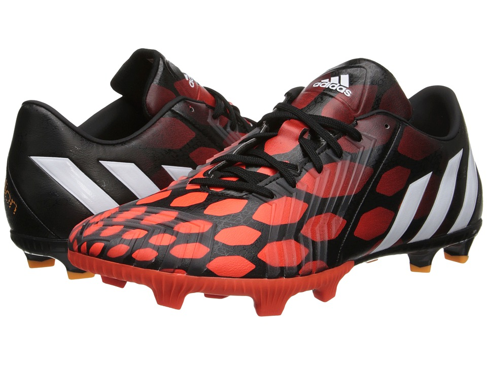 adidas - Predator Absolion Instinct FG (Black/Core White/Solar Red) Men's Soccer Shoes