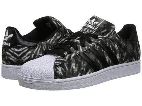Footwear-adidas Originals Superstar 2 Solar Burst (Black Black Core White) Men's Classic Shoes