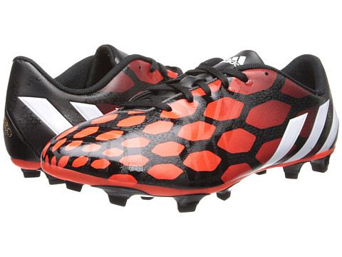 adidas - Predito Instinct FG (Black/Core White/Solar Red) Men's Soccer Shoes
