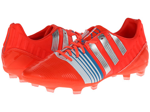 adidas - Nitrocharge 2.0 FG (Solar Red/Silver Metallic/Core White (New)) Men's Soccer Shoes