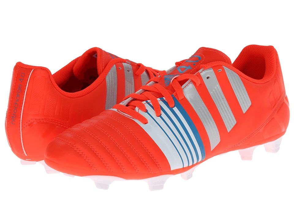 adidas - Nitrocharge 4.0 FG New (Solar Red/Silver Metallic/Core White) Men's Soccer Shoes